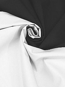 White/Black Silk/Polyester Double Faced Twill - NY Designer - 59W