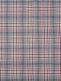 Navy/Crimson/Eggshell 100% Wool Double Faced Plaid Suiting - Imported From Italy By NY Designer - 61W
