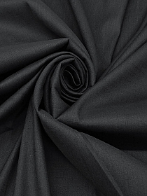 Carbon Black Linen/Rayon/Lycra Stretch Shirt Weight Woven - NY Designer - 50W