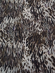 Black/Brown/White/Purple 100% Cotton Animal Print Pinwale Corduroy - Imported From Italy - 57W