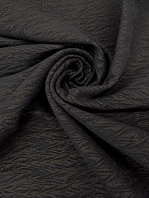 Black/Gold Viscose/Nylon/Lycra Shimmer Moire Look Jacquard Stretch Bengaline Suiting - Imported From Italy - 56W