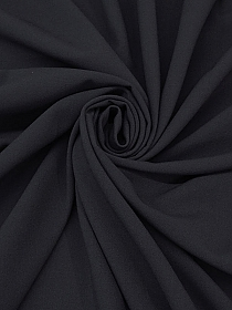 Deep Muted Navy Polyester/Rayon/Spandex Stretch Suiting - Imported From Italy - 57W
