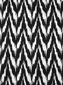 Black/White 100% Rayon Distorted Zig-Zag Print Tissue Jersey Knit 60W