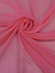 Pink Strawberry 100% Silk Chiffon - High-end Designer Label - 42W