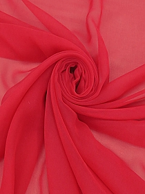 Amaranth Red 100% Silk Chiffon - High-End Designer Label - 41W