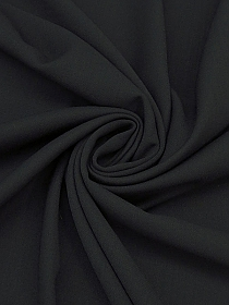 Raven Black 100% Wool Suiting - Imported From Italy By NY Designer - 60W