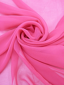 Fluorescent Pink 100% Silk Chiffon - High-End Designer Label - 43W