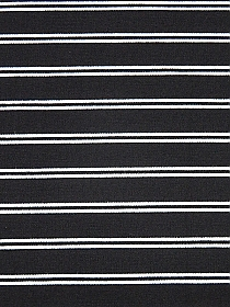 Black/White Rayon/Nylon/Lycra Horizontal Stripe Double Knit - NY Designer - 66W