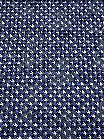 Cornflower Blue/Black/White/Gray Rayon/Lycra Houndstooth Print Jersey Knit - Imported From Italy - 56W