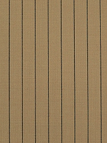 Tan/Black Polyester/Rayon/Wool/Lycra Vertical Pinstripe Suiting - NY Designer - 58W