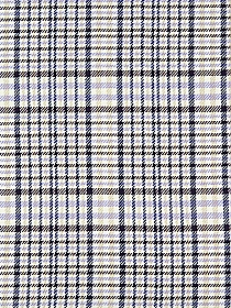 Eggshell/Navy/Muted Straw/Periwinkle 100% Cotton Plaid Boucle Suiting - NY Designer - 58W