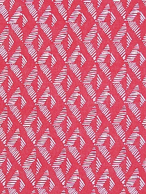 Light Carmine Pink/Off-White 100% Rayon Dashed Diamond Print Challis 52W