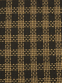 Dark Brown/Butterscotch 100% Polyester Plaid Novelty Weave Suiting 60W