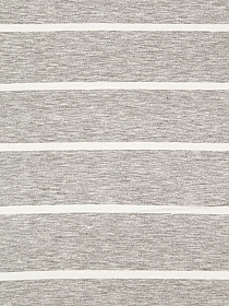 Heathered Ash Gray/Off-White Cotton/Lycra Horizontal Stripe Jersey Knit 60W