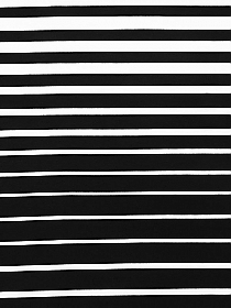 Black/White Polyester/Lycra Horizontal Stripe Jersey Knit 62W