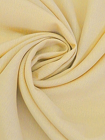 Soft Muted Straw 100% Rayon Crinkle Challis - NY Designer - 44W