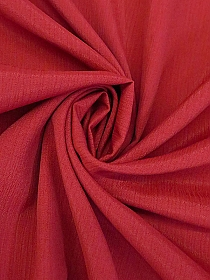Jolly Red 100% Rayon Crinkle Challis - NY Designer - 44W