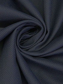 Navy 100% Cotton Diamond Weave Suiting - NY Designer - 59W
