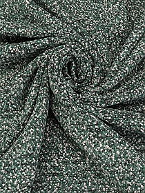 Muted Hunter Green/Black/Off-White Wool/Polyester/Acrylic Tweed Boucle Suiting 58W
