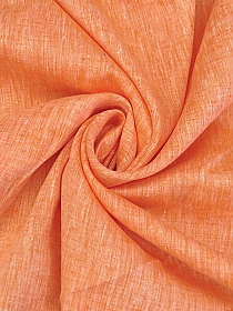 Tiger Orange/White 100% Linen Light-Weight Yarn-Dyed Chambray Linen 58W