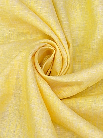 Sun Yellow/White 100% Linen Light-Weight Yarn-Dyed Chambray Linen 58W