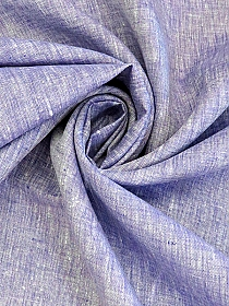 Grape/White 100% Linen Light-Weight Yarn-Dyed Chambray Linen 58W
