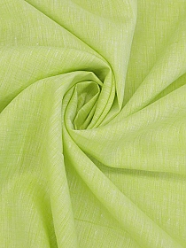 Soft Chartreuse/White 100% Linen Light-Weight Yarn-dyed Chambray Linen 58W