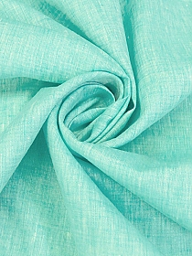 Turquoise/White 100% Linen Light-Weight Yarn-Dyed Chambray Linen 58W