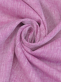 Fuchsia/White 100% Linen Light-Weight Yarn-Dyed Chambray Linen 58W