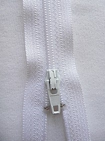 "White YKK Zipper 9"" Long Quantity of 1"