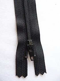 "Black YKK Zipper 9"" Long Quantity of 1"