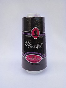 Black Serger Thread Maxi-Lock Serger Thread 3000 Yards