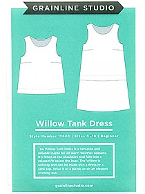 Grainline Studio Patterns - Willow Tank Dress #13002 - Sizes 0-18