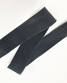 "2"" Black Novelty Waistband Elastic - Shindo - Made in Japan"