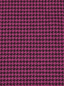 Magenta/Black Polyester/Wool/Lycra Mini Houndstooth Stretch Suiting -NY Designer - 50W