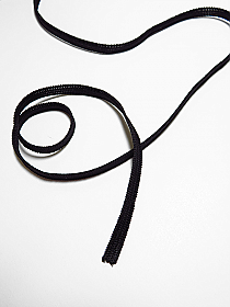 "1/4"" Black Soft Knitted Elastic"
