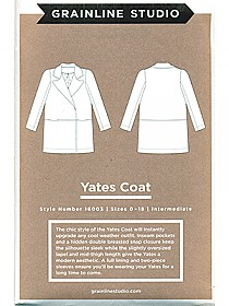 Grainline Studio Patterns - Yates Coat #16003 - Sizes 0-18