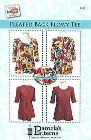 Pamela's Patterns - Pleated Back Flowy Tee #120