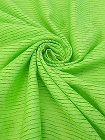 Lime Green Cotton/Nylon Burnout Stripe Top Weight Woven - Famous Dress Designer - 56W