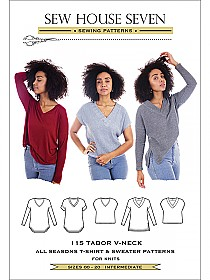 Sew House Seven Patterns - The Tabor V-Neck - Sizes 00 - 20