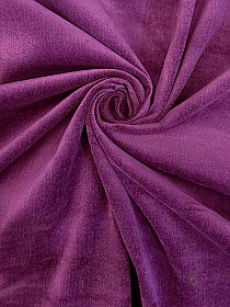 Bright Jam Purple 100% Cotton Velveteen 42W