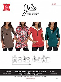 Jalie Patterns - Nursing Tee and Hoodie #3132- Womens/Plus Sizes