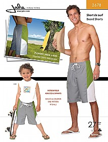 Jalie Patterns - Men's Board Shorts #2678 - Mens/Boys Sizes