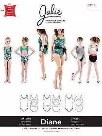 Jalie Patterns - Diane Tank Swimsuit #3893 - Woman/Girl Sizes