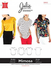 Jalie Patterns - Mimosa Scoopneck T-Shirts #3890 - Woman/Girls Sizes
