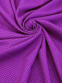 Vibrant Grape/Black Polyester/Wool Novelty Weave Suiting 59W