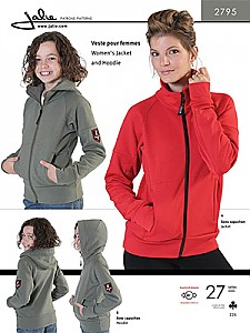 Jalie Patterns - Women's Jacket/Hoodie #2795 - Women/Girls Sizes