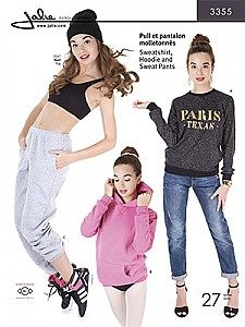 Jalie Patterns - Sweatshirt, Hoodie And Sweat Pants #3355 - Women/Girls Sizes