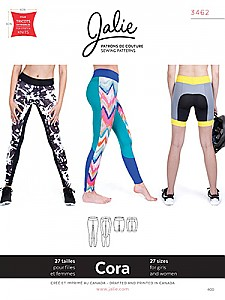 Jalie Patterns - Cora Leggings #3462 - Women/Girls Sizes