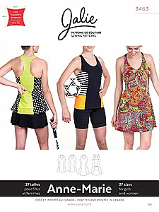 Jalie Patterns - Anne-Marie Tanks And Dress #3463 - Women/Girls Sizes
